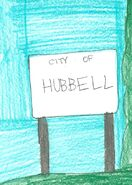 Hubbell welcome sign