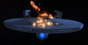 Destruction of the enterprise ncc-1701