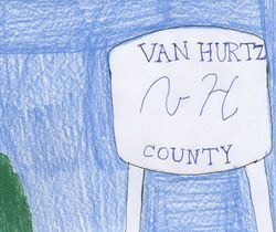 Van Hurtz County water tower