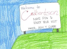Colbertson (Carlana) welcome sign