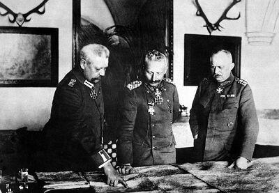 Hindenburg, Willhelm II,and Ludendorff