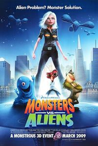 Monsters vs. Aliens (2009) Poster