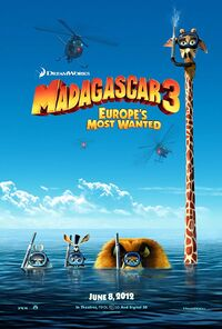 Madagascar 3 - Europe's Most Wanted (2012) Poster