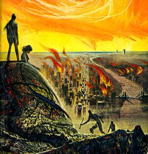 Burning world header