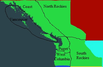 Cascadia Map Political