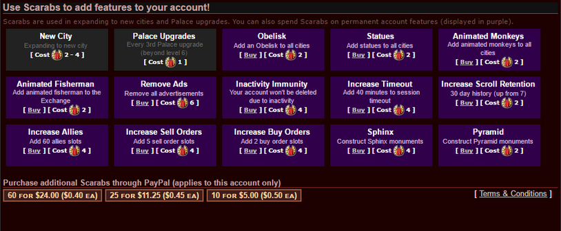Scarab Screen