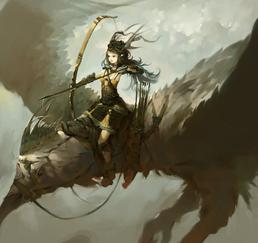 Oriental eagle rider by fkcogus333-d8o8p3h