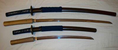 Daisho katana and wakizashi 1