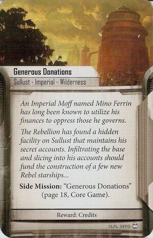 Generous Donations