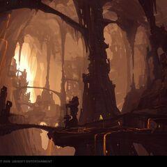 Kamienna Włócznia – kopalnie i domy górników