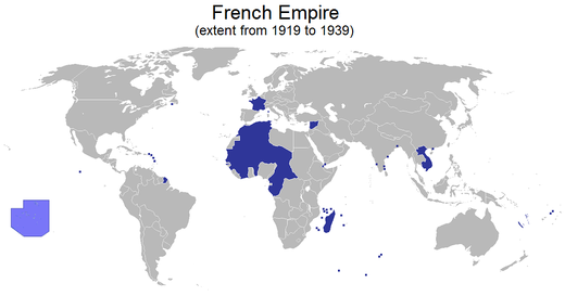 Ranskan siirtomaaimperiumi vuodesta 1919 vuoteen 1939