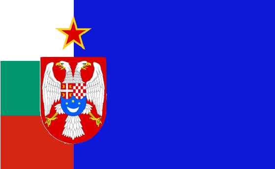 Balkan federation flag bill clinton