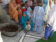 Sikh women at Gurudwara Panja Sahib