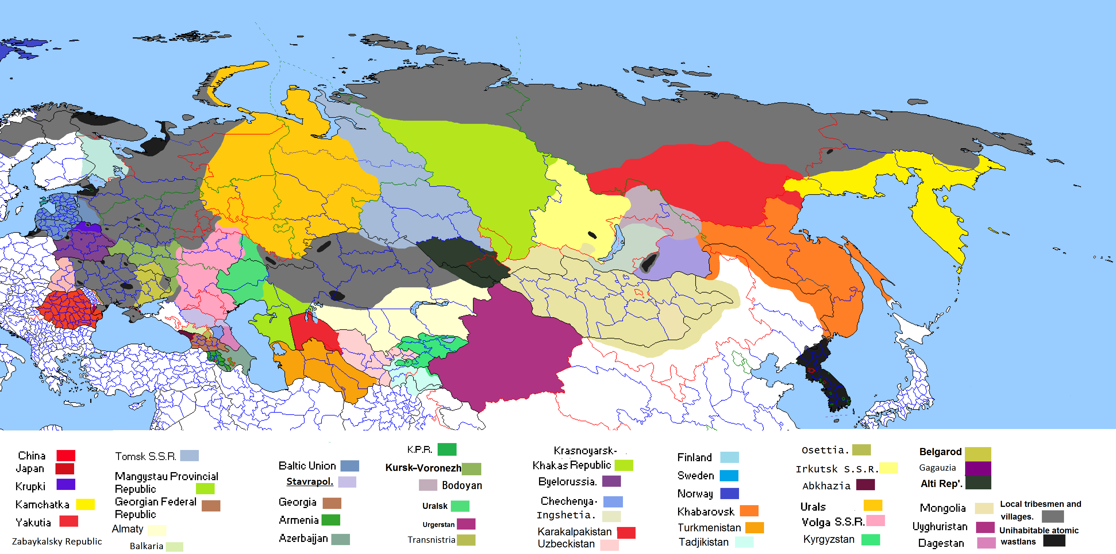 Tajikistan The Apocalypse Implausable Alternate History - Middle east map dushanbe