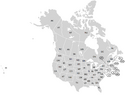Usa and Canada with names natural