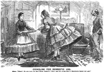 Maid and mistress in crinoline. Punch Almanack for 1862-2