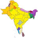 TA62 Indian map