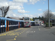 Buses in Dudley Bus Station, West Midlands, 7 April 2009