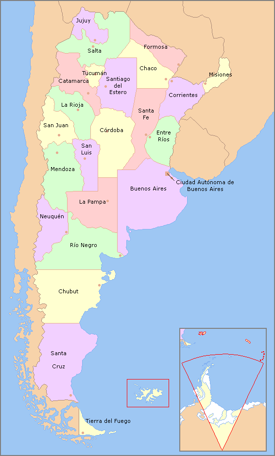 Image Map Of Argentina With Provinces Names Espng Implausable - Argentina map png