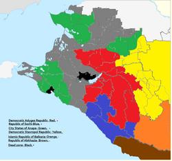 TA62 Map of ex-Krasnodarski Krai