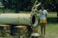 Early diving recompression chamber at Broome, Western Australia