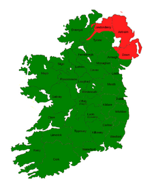 TA62 the Republic of Ierland and the Isel of Man