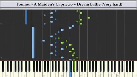 Synthesia Touhou - A Maiden's Capriccio ~ Dream Battle Reconstructed Piano Tutorial
