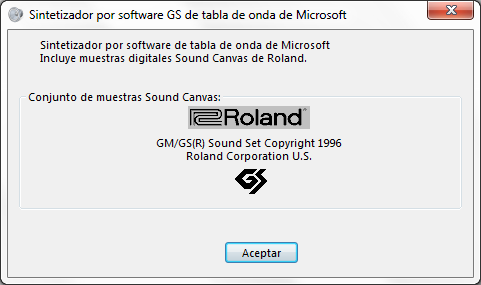 pilote microsoft gs wavetable synth