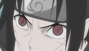 Sasuke Sharingan de Una y Dos Aspas
