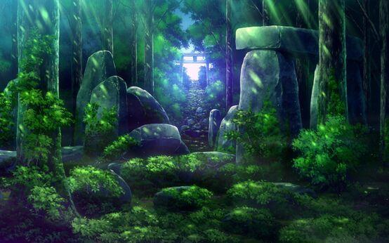 Parte del bosque anime