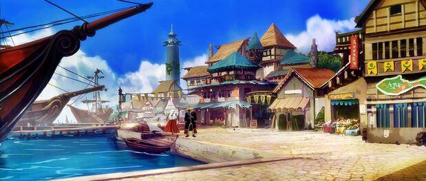 Fatecraft port town by tyleredlinart-d6kzrmg