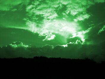 Green-sky