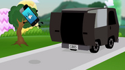S2e7 a police van throws mephone4 out of back