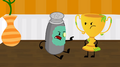 S2e7 ah! oj, your award! it's trying to eat me!