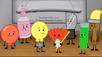 S2e8 balloon, soap, lightbulb, fan, knife test tube and paintbrush