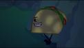 Taco hiding in the bush