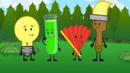 S2e9 lightbulb, test tube, fan and paintbrush