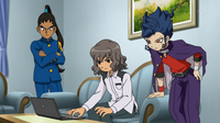 Shindou, Tsurugi and Nishiki at Shindou's house