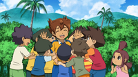 Tenma surrounded by kids CS 1 HQ