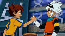 Arion and Saru handshake
