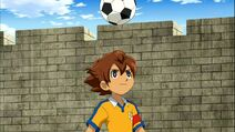 Arion playing soccer