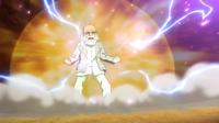 Daisuke turning into the Chrono Stone