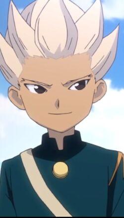 Gouenji in Raimon Uniform