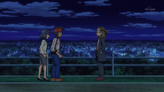 Kidou talking with Endou and Haruna GO 15