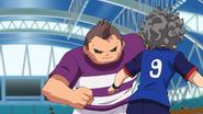 Clario battling Inazuma Japan
