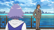 Shinjou talking with Fubuki