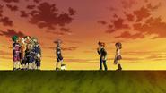 Endou and Aki meet Protocol Omega