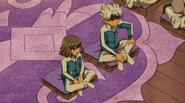 Ibuki and Shindou talking to Roglos