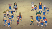 Red and white teams in Episode 110