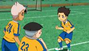 Tasuke encouraging his friends